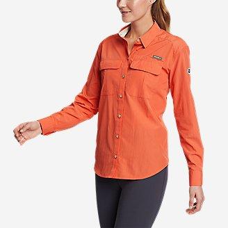 Women's Guide UPF Long-Sleeve Shirt in Red