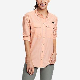 Women's Guide UPF Long-Sleeve Shirt in Orange