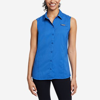 Women's Water Guide Sleeveless Shirt in Blue