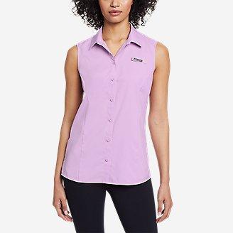 Women's Water Guide Sleeveless Shirt in Purple