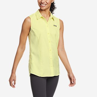 Women's Water Guide Sleeveless Shirt in Yellow
