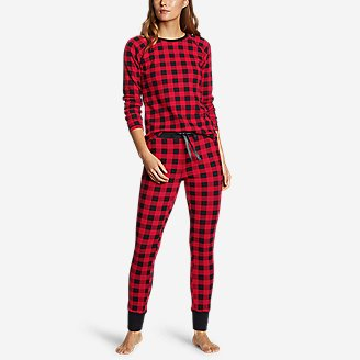 Women's Stine's Favorite Waffle Sleep Pant in Red