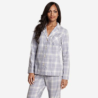 Women's Stine's Favorite Flannel Sleep Shirt in Purple