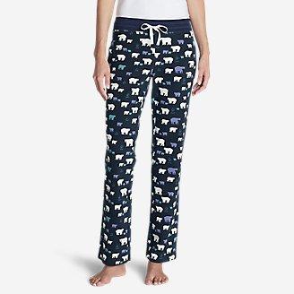 Women's Stine's Knit Sleep Pants - Print in Blue