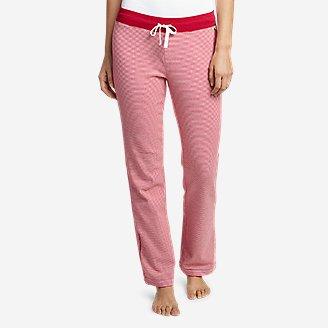 Women's Stine's Knit Sleep Pants - Print in Red
