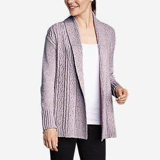 Women's Cable Sleep Cardigan in Purple