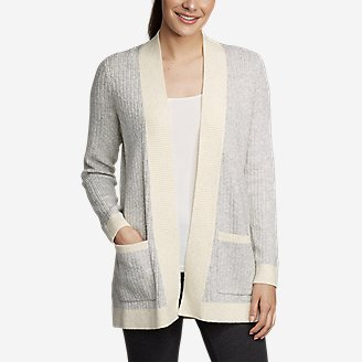 Women's Sleep Cardigan Sweater in Gray