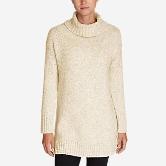Women's Turtleneck Sleep Sweater in Beige