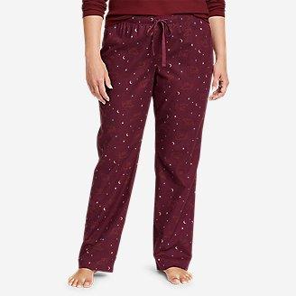 Women's Stine's Favorite Flannel Sleep Pants in Purple