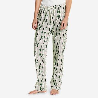 Women's Stine's Favorite Flannel Sleep Pants in Green
