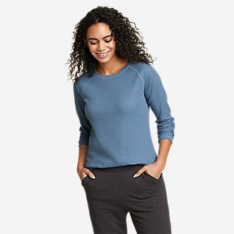 Women's Stine's Favorite Thermal Crew - Solid in Blue