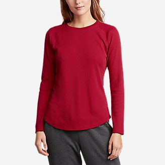 Women's Stine's Favorite Thermal Crew - Solid in Red