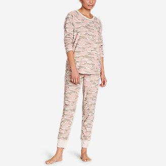 Women's Fleece Sleep Set in Green