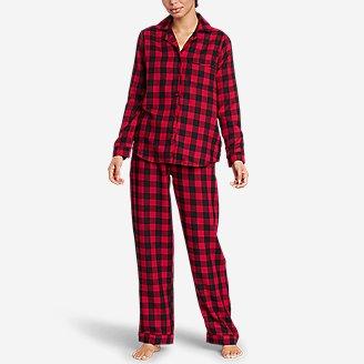 Women's Flannel Sleep Set in Red