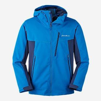 Men's Sandstone Shield Hooded Jacket in Blue