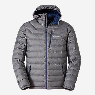 Men's Downlight Hooded Jacket in Gray