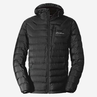 Men's Downlight Hooded Jacket in Black