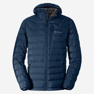 Men's Downlight Hooded Jacket in Blue