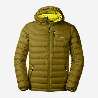 Men's Downlight Hooded Jacket in Green