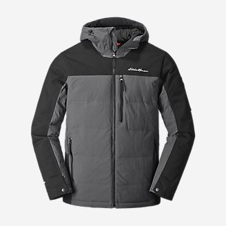 Men's Mountain Ops Down Hooded Jacket in Black