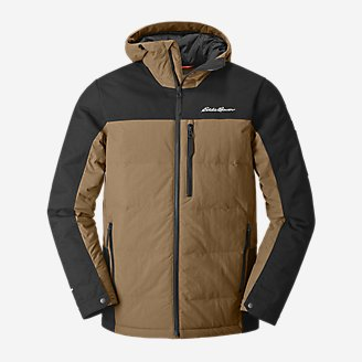Men's Mountain Ops Down Hooded Jacket in Brown