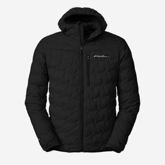 Men's MicroTherm FreeFuse Stretch Down Hooded Jacket in Black