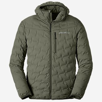 Men's MicroTherm FreeFuse Stretch Down Hooded Jacket in Green