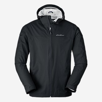 Men's Cloud Cap Rain Jacket in Black
