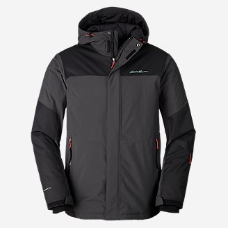 Men's Powder Search Pro Insulated Jacket in Gray