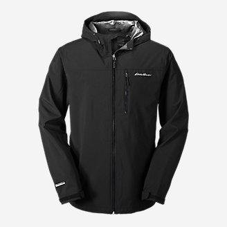 Men's Cloud Cap Stretch 2.0 Rain Jacket in Black