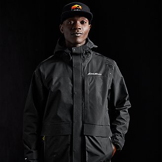 Men's Centennial Collection Convertible Rain Jacket in Black