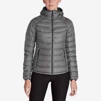 Women's Downlight Down Hooded Jacket in Gray