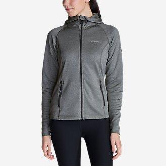 Women's High Route Fleece Hoodie in Gray