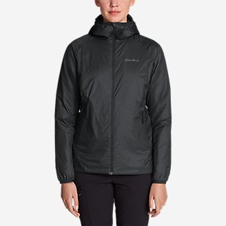 Women's EverTherm Down Hooded Jacket in Black