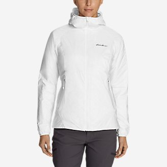 Women's EverTherm Down Hooded Jacket in White