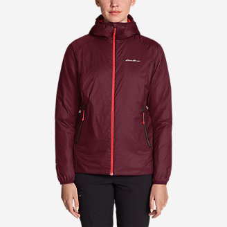Women's EverTherm Down Hooded Jacket in Red