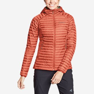 Women's MicroTherm 2.0 Down Hooded Jacket in Red