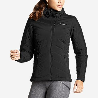 Women's IgniteLite Stretch Reversible Hooded Jacket in Black