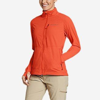 Women's Sandstone Backbone Jacket in Red