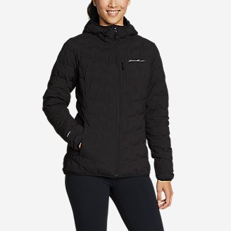 Women's MicroTherm FreeFuse Stretch Down Hooded Jacket in Black