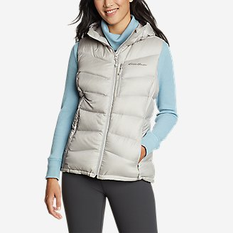 Women's Downlight 2.0 Hooded Vest in Beige