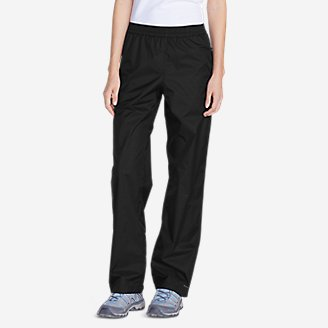 Women's Cloud Cap Rain Pants in Black