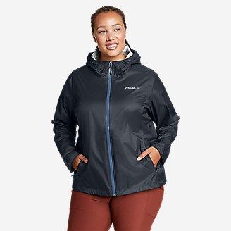 Women's Cloud Cap Rain Jacket in Blue