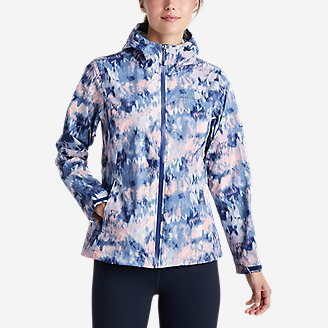 Women's Cloud Cap Rain Jacket in Blue