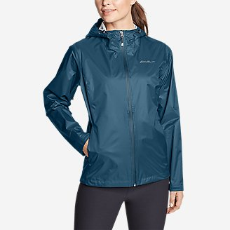 Women's Cloud Cap Rain Jacket in Green