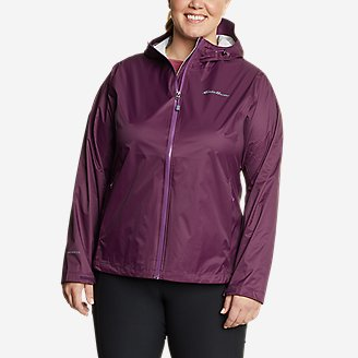 Women's Cloud Cap Rain Jacket in Purple