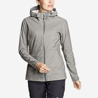 Women's Cloud Cap Rain Jacket in Gray