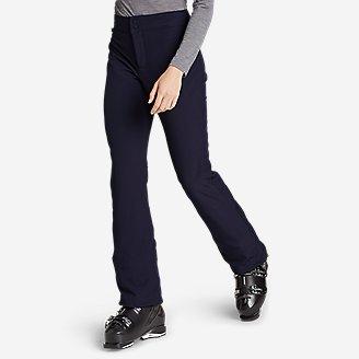 Women's Alpenglow Stretch Ski Pants in Blue