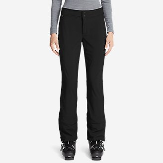Women's Alpenglow Stretch Ski Pants in Black