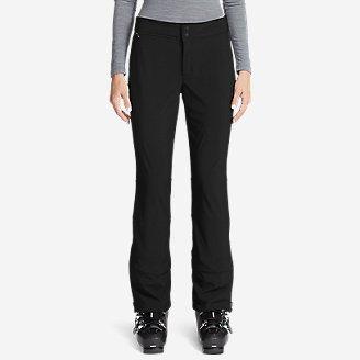 Women's Alpenglow Stretch Ski Pants in Black
